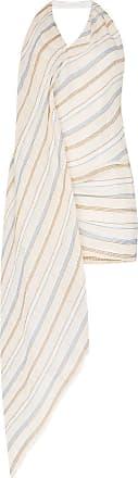 1c6f71ce158 Jacquemus Halterneck drape detail cotton-linen blend mini dress - Neutrals