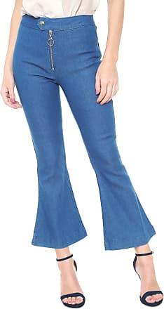 4cbd64af8b Morena Rosa Calça Jeans Morena Rosa Cropped Flare Azul