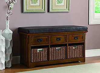 Coaster Fine Furniture 3-Drawer Storage Bench Medium Brown