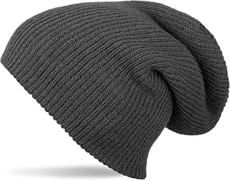 styleBREAKER Beanie, Slouch, Long Knitted hat, Double Knitted 04024004, Color:Dark Grey