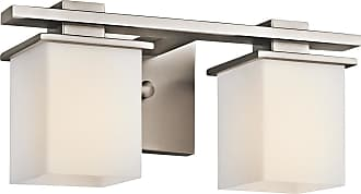 Kichler Tully 2-Light Bath Wall Mount in Antique Pewter