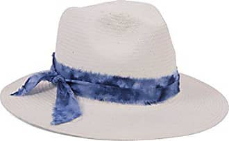 ále by Alessandra Womens Luca Panama Sunhat Packable, Adjustable & UPF Rated, Ivory/Blue, One Size