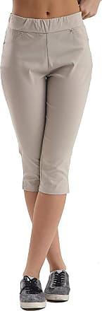 XL LADIES NEW LACE 3//4 CROPPED PLAIN THICK COTTON STRETCH SHORTS LEGGING S
