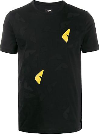 Fendi Camiseta com aplicação Bag Bugs - Preto
