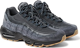 Nike Air Max 95 Se Mesh, Leather And Suede Sneakers - Navy