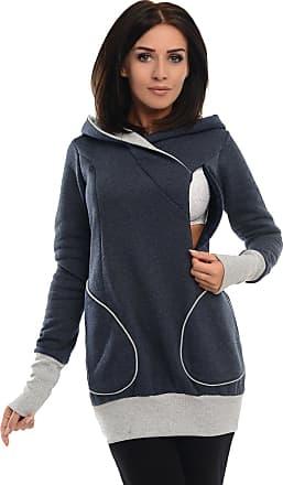 Purpless Maternity Pregnancy Nursing Sweatshirt Hoodie for Pregnant Breastfeeding Woman B9056 (16, Navy Melange)