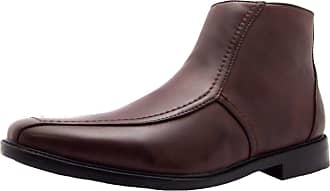 US Brass Size 11 U S Brass Mens Johnson Synthetic Chelsea Ankle Boots, Brown, 11 UK