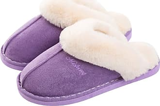 iClosam Ladies Slippers Women Size 6 7 8 Womens Womans Slippers Lady Slippers Fluffy Slippers Women Size 4 5 Fuzzy Slippers Mule Slipper Warm Indoor Slippers