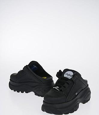 Chaussures femme Buffalo classic kick cuir verni – Soldes et