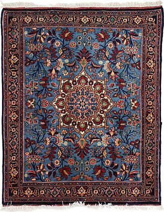 Nain Trading 84x65 Tappeto Bidjar Halwai Antico Blu Scuro/Viola (Lana, Persia/Iran, Annodato a mano)