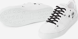The Kooples White leather trainers with contrasting motif - MEN