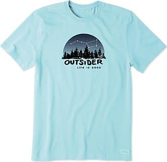 Life is good Mens Outsider Ursa Major Crusher Tee XXXL Beach Blue