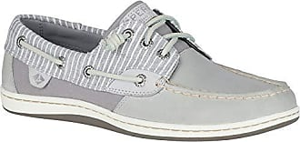 Sperry Top-Sider Womens Songfish Stripe Boat Shoe, grey, 8 M US