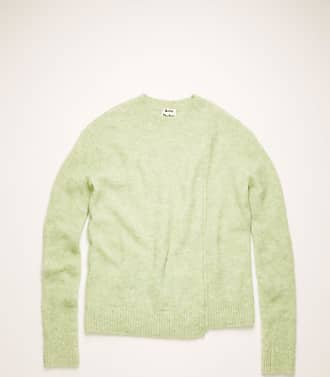 Acne Studios FN-WN-KNIT000183 Pistachio Green Asymmetric-hem sweater