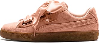 Puma Basket Heart Corduroy Womens Trainers, Dusty Coral/Dusty Coral, size 3.5, Shoes