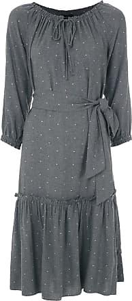 Fillity Vestido franzido com padronagem - Cinza