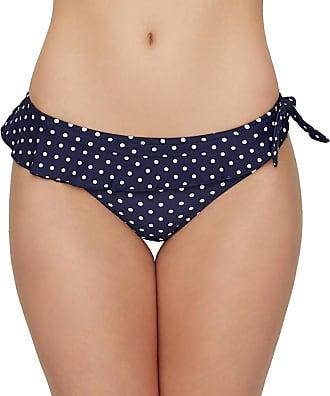 Pour Moi? Womens Hot Spots Frill Brief Bikini Bottoms, Blue (Navy), 8, (Size: 8)