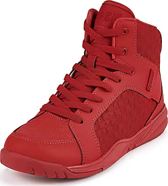 Zumba Active Street Boss High Cut Fitness Sneakers Dance Workout Shoes for Women, Red, 6