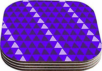 KESS InHouse Matt EklundOverload-Purple Digital Coasters (Set of 4), 4 x 4, Multicolor