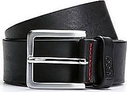 917f17d5142659 HUGO BOSS Gürtel aus geprägtem Leder mit gebürsteten Metall-Details