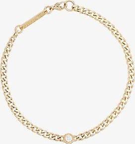 Zoë Chicco Womens Metallic Zchicco 14k Yg Crb Chain Dia Brclt