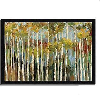 Tangletown Fine Art Young Forest Iii by Silvia Vassileva Framed Art White/Green