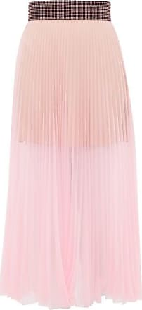 Christopher Kane Crystal-embellished Pleated Tulle Midi Skirt - Womens - Light Pink