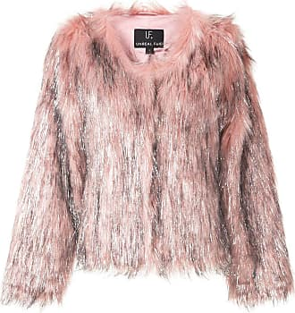 Unreal Fur textured metallic detail jacket - PINK