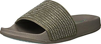 d57ccffa439 Skechers Womens POP UPS-Halo Power-Rhinestone and Pearl Shower Slide Sandal