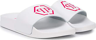 Philipp Plein logo print slides - White
