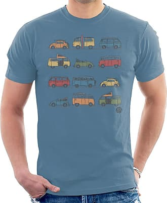 Volkswagen Vans and Beetles Mens T-Shirt Indigo Blue