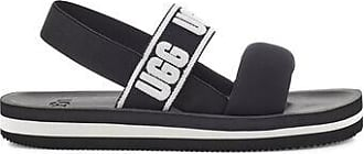 UGG Womens Zuma Sling Slide in Black, Size 3, Nylon