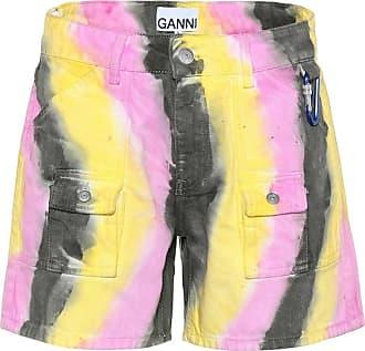 Ganni Bedruckte Jeansshorts