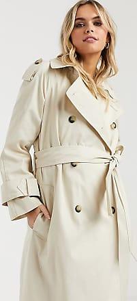 Asos Maternity ASOS DESIGN Maternity longline trench coat in stone-Cream