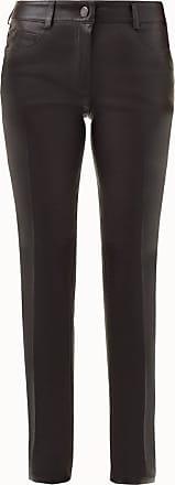 Akris Nappa Leather Slim Leg Pants