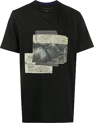 Ziggy Chen short sleeve letters print T-shirt - Black