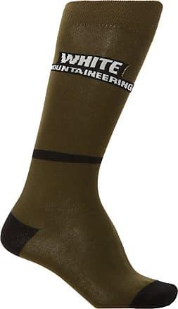White Mountaineering Long Logo Socks Mens Green