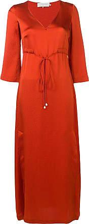 L'autre Chose waist-tied maxi dress - Orange