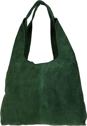 Girly HandBags Girly HandBags Plain Open Shoulder Bag (Dark Green)