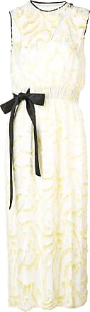 Yigal AzrouËl daffodil feather coupe dress - White