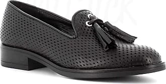 Generico Made in Italy Moccasin in Leather with Tassels - Black Black Size: 8 UK