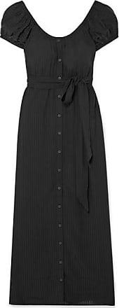 Mara Hoffman Beatrix Off-the-shoulder Striped Tencel Maxi Dress - Black