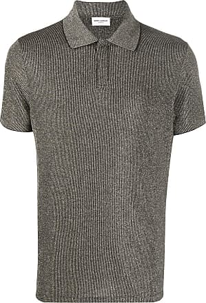 Saint Laurent metallic polo shirt