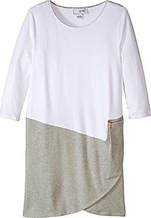Joan Vass Womens Colorblock Dress, Grey/White 1