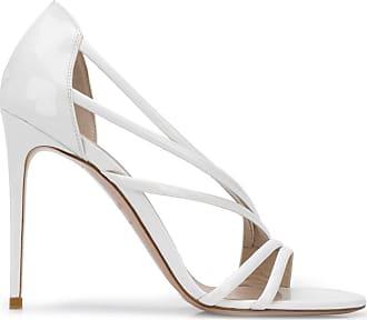 Le Silla Sandália Scarlet de couro envernizado com salto 105mm - Branco