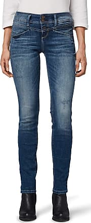 Tom Tailor Womens Alexa Slim Jeans, Blue (Random Bleached blu 10125), 16 UK (Size: 32/32)
