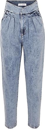 Iro Staunch Pleated High-rise Tapered Jeans - Mid denim