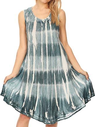 Sakkas 19329 - Milly Womens Midi Loose Casual Summer Sleeveless Dress Sundress Cover-up - Teal - OS