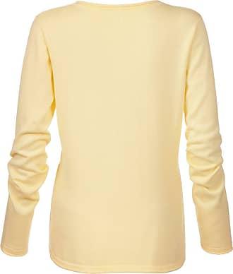 Madeleine Damen Strickpullover aus Pima Baumwolle mit V-Ausschnitt und langen Ärmeln Damen vanille / gelb