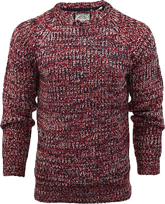 Mens Brave Soul Binary Fisherman Medium Knit Jumper Crew Neck Knitted Sweater